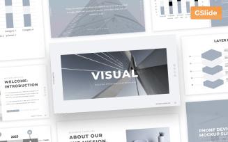 Visual - Minimal Google Slides Presentation Template