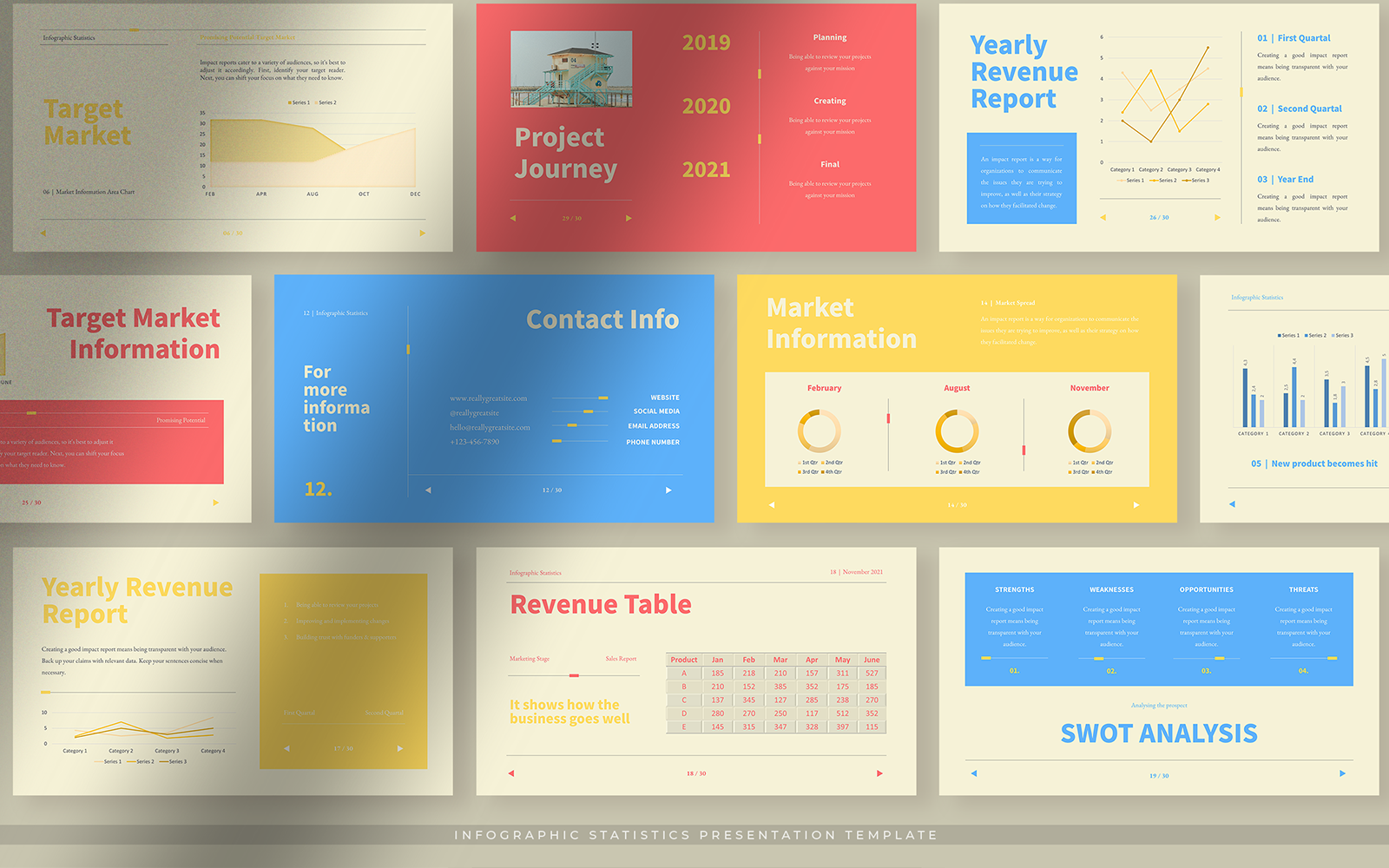 Colorful Infographic Statistics PPT