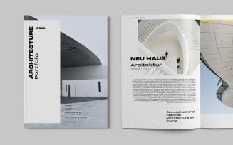Architecture Portfolio Magazine Templates