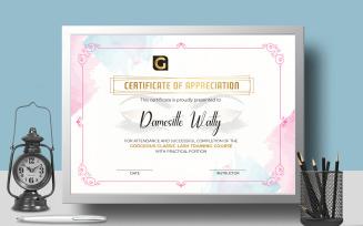 Eyelash Training Certificate Template