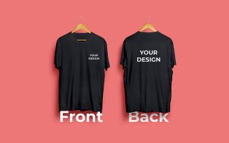 T-Shirt Mockup Design Front Back Product Mockup