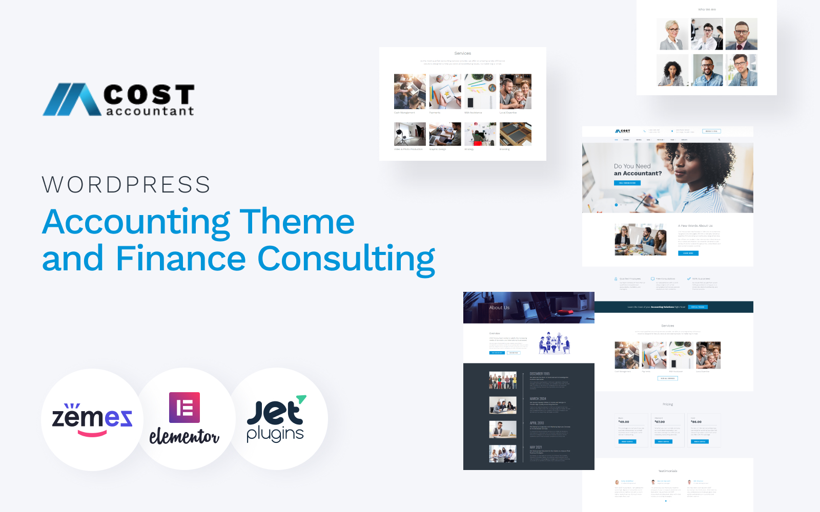 Cost Accountant - WordPress Accounting Theme and Finance Consulting WordPress Theme