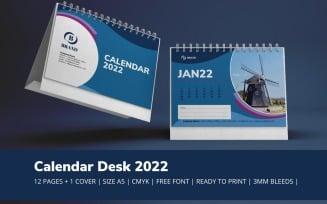 Blue Calendar 2022 Theme Planner Template