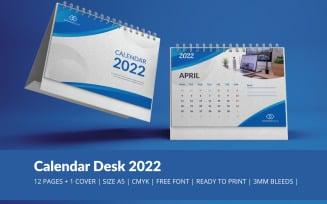 Blue Wave Calendar 2022 Theme Planner Template