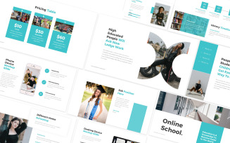 Online School Google Slides Template
