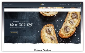 Harpers - Bakery Store Opencart Theme