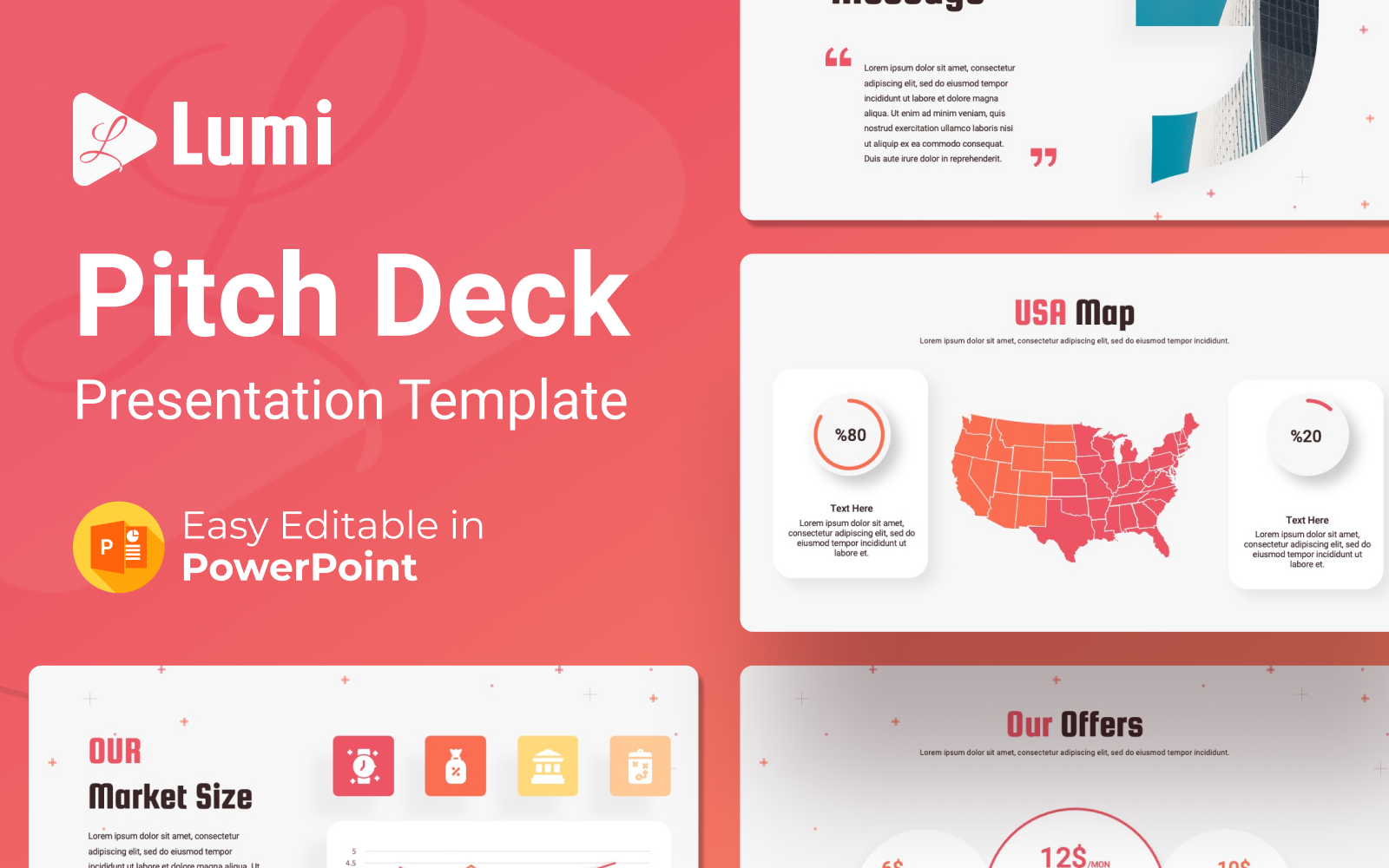 Lumi – Pitch Deck Presentation PowerPoint Template