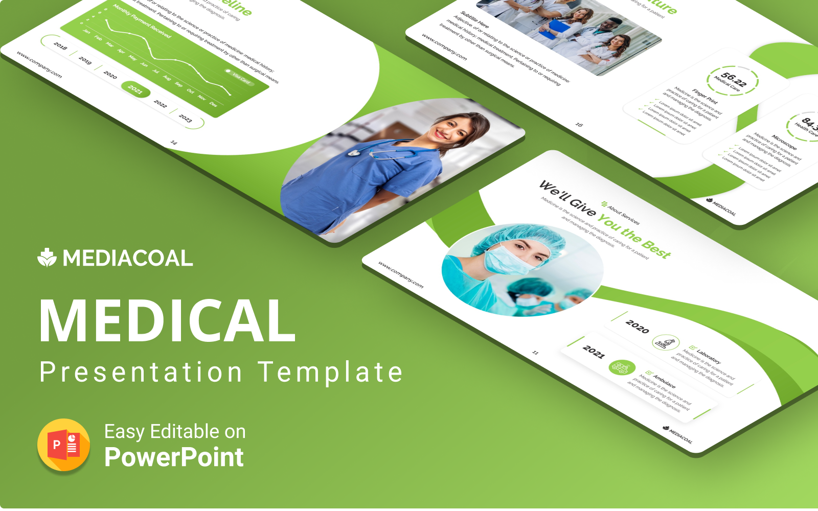 Mediacoal – Medical PowerPoint Presentation Template