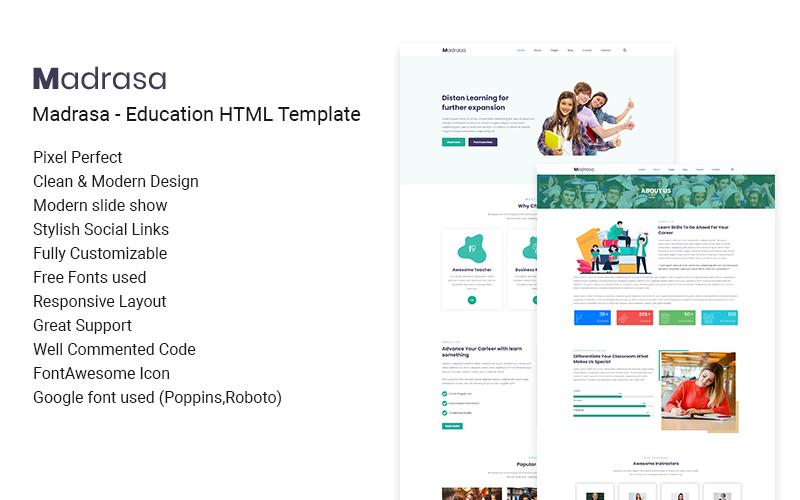 Madrasa - Creative Corporate & Education HTML Website Template