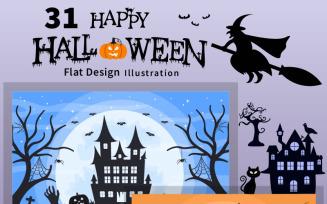 31 Halloween Night Party Illustration