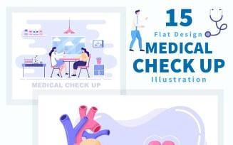 15 Medical Health Check up Illustration