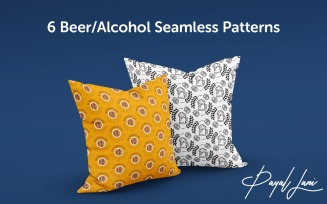 Seamless Beer Alcohol Patterns