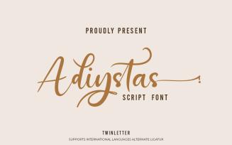 Adiystas - Dramatic Signature Font