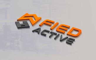 3D Logo Mockup Design Psd