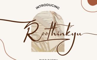 Roothinkyu - Elegant Signature Font