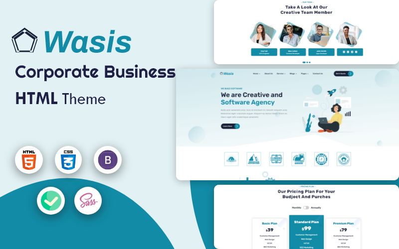 Wasis - Corporate Business HTML5 Template