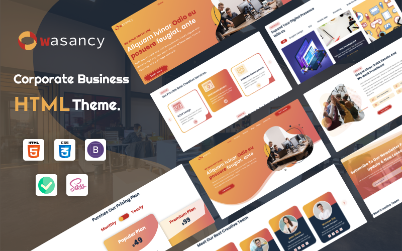 Wasancy - Corporate Business HTML Template