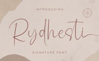 Rydhesti - Charming Signature Font