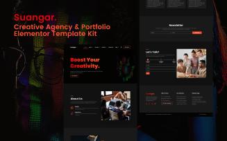 Suangar – Creative Agency & Portfolio Elementor Template Kits