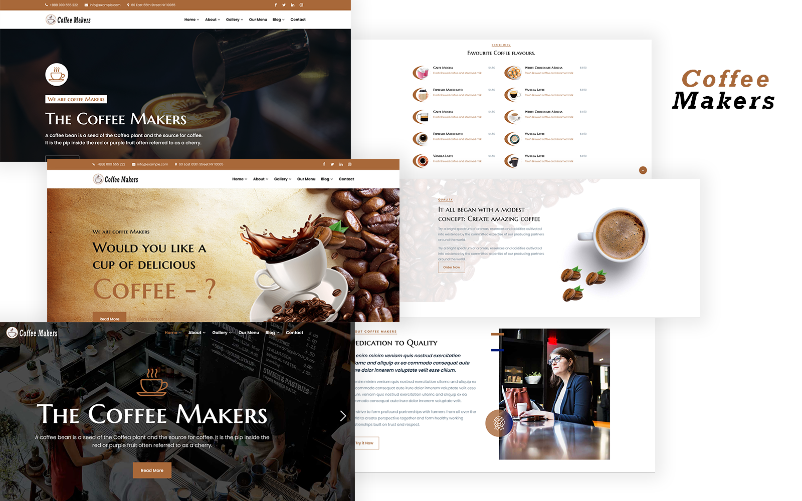 Coffee Makers - Coffee Shop Responsive HTML Template