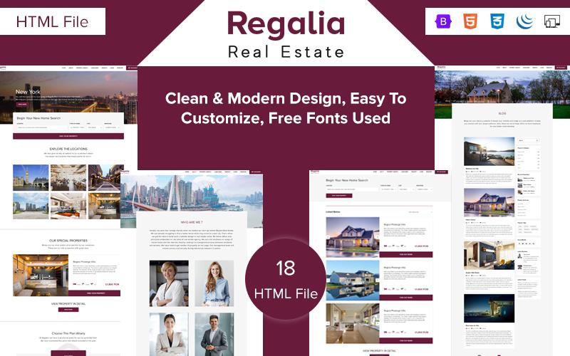 Regalia - Real Estate Ajax Website Template