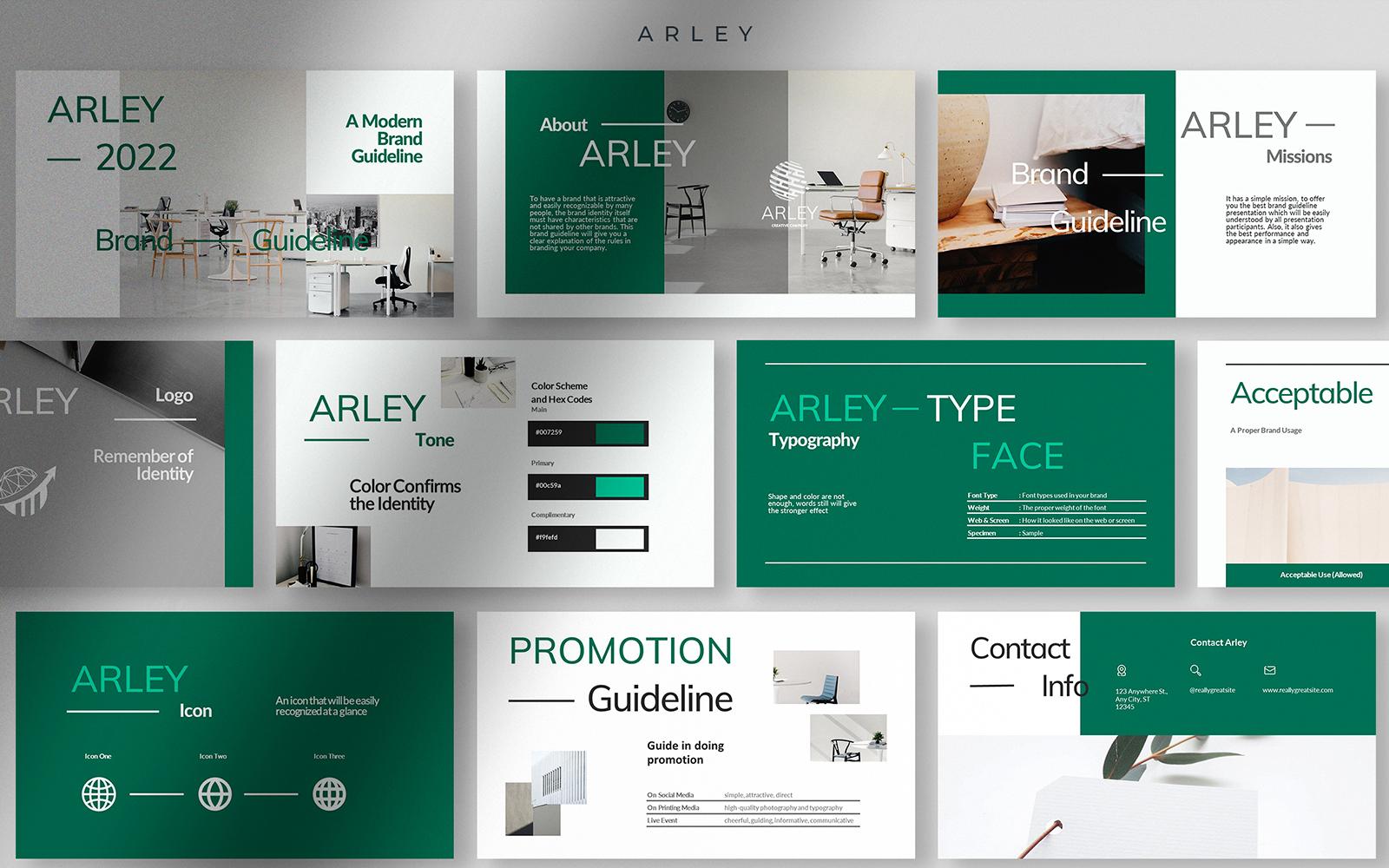 Arley - Modern Brand Guideline PPT