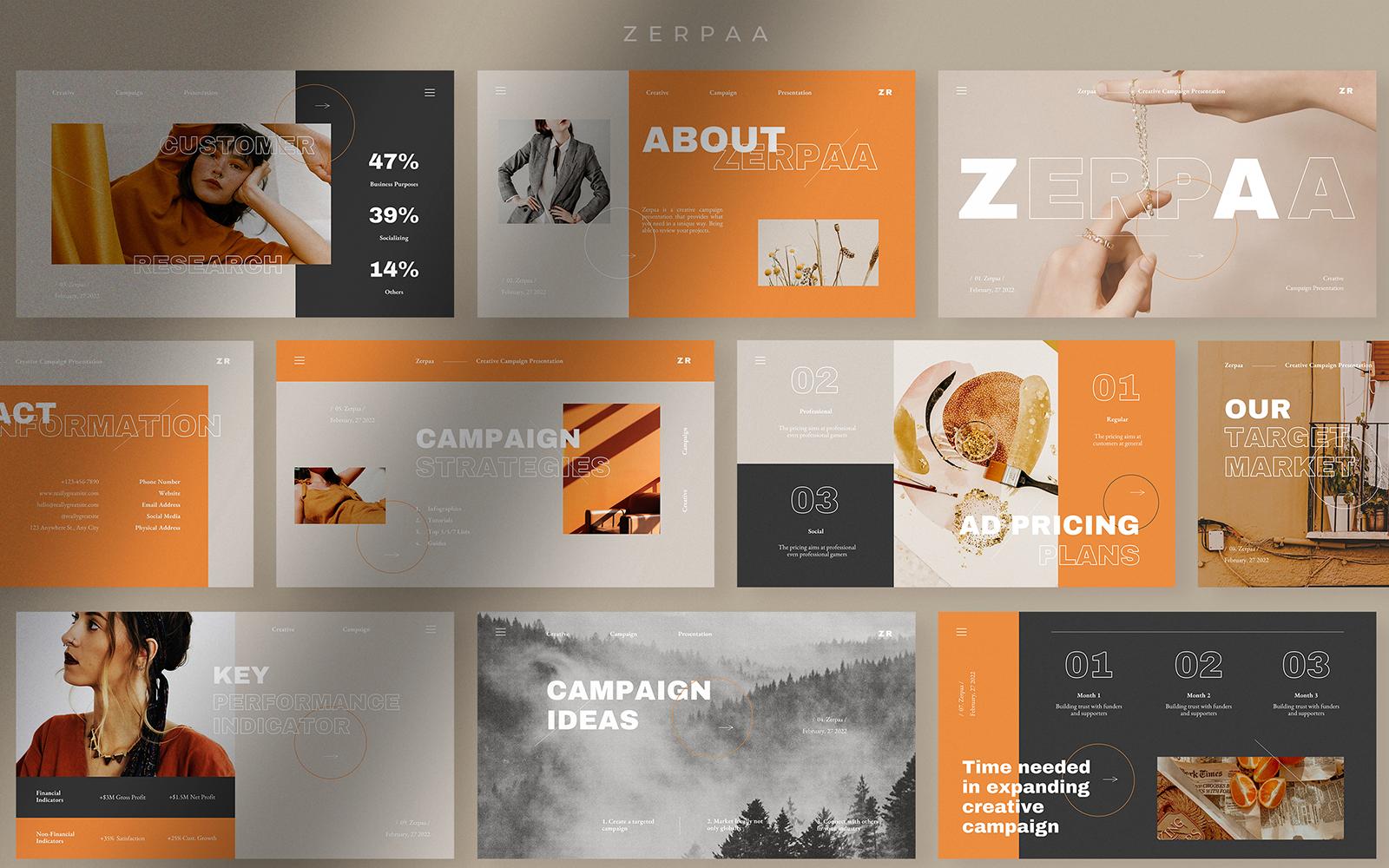 Zerpaa Creative Campaign Powerpoint