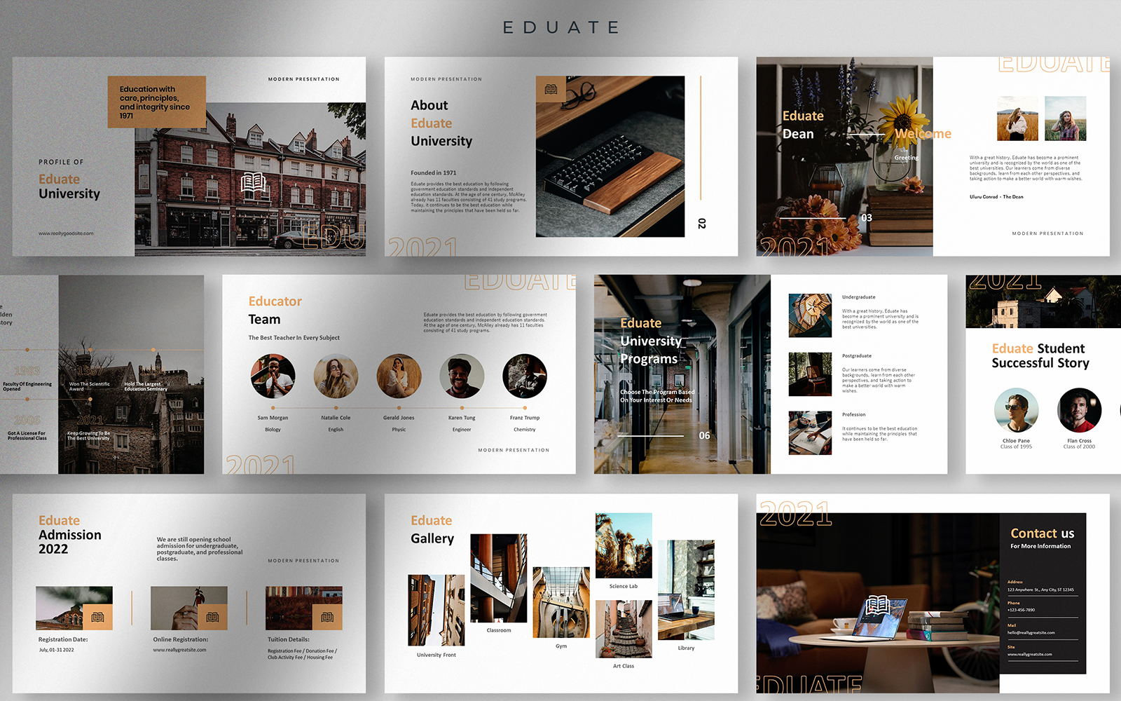 Eduate - Clean and Neat University Profile Presentation