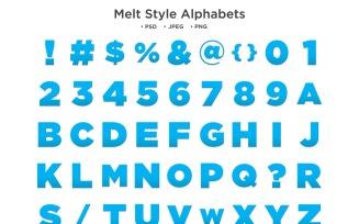 Melt Style Alphabet, Abc Typography