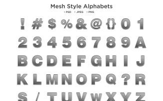 Mesh Style Alphabet, Abc Typography