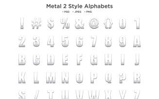 Metal Style Alphabet, Abc Typography