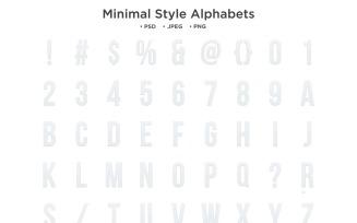 Minimal Style Alphabet, Abc Typography