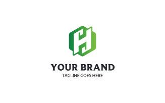 Letter H Hexagon Logo Design