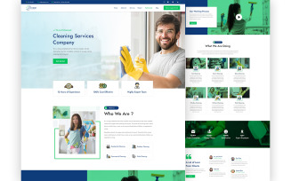 Washall – Cleaning Services One Page UI Elements