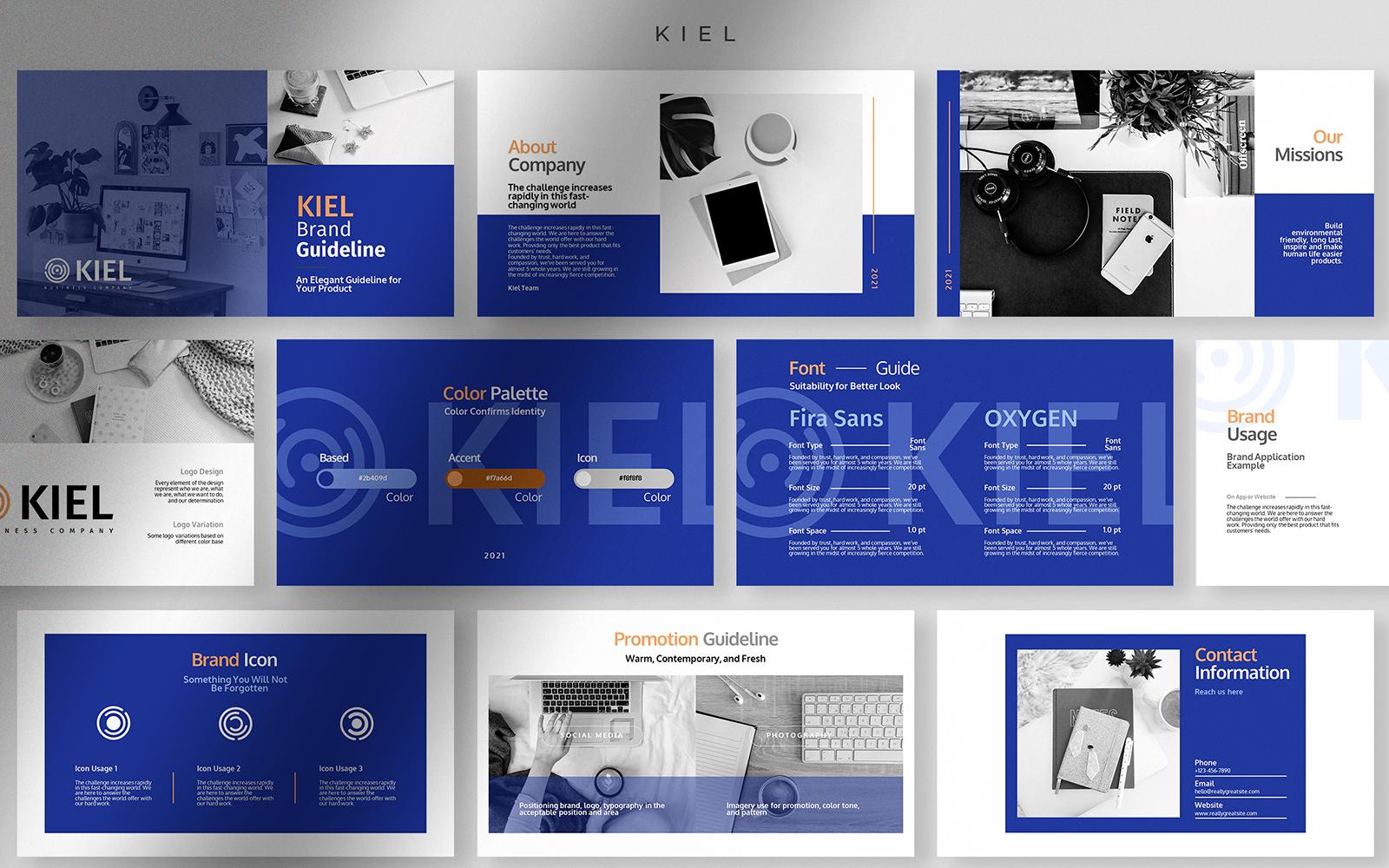 Kiel - Elegant Brand Guideline Presentation PowerPoint Template