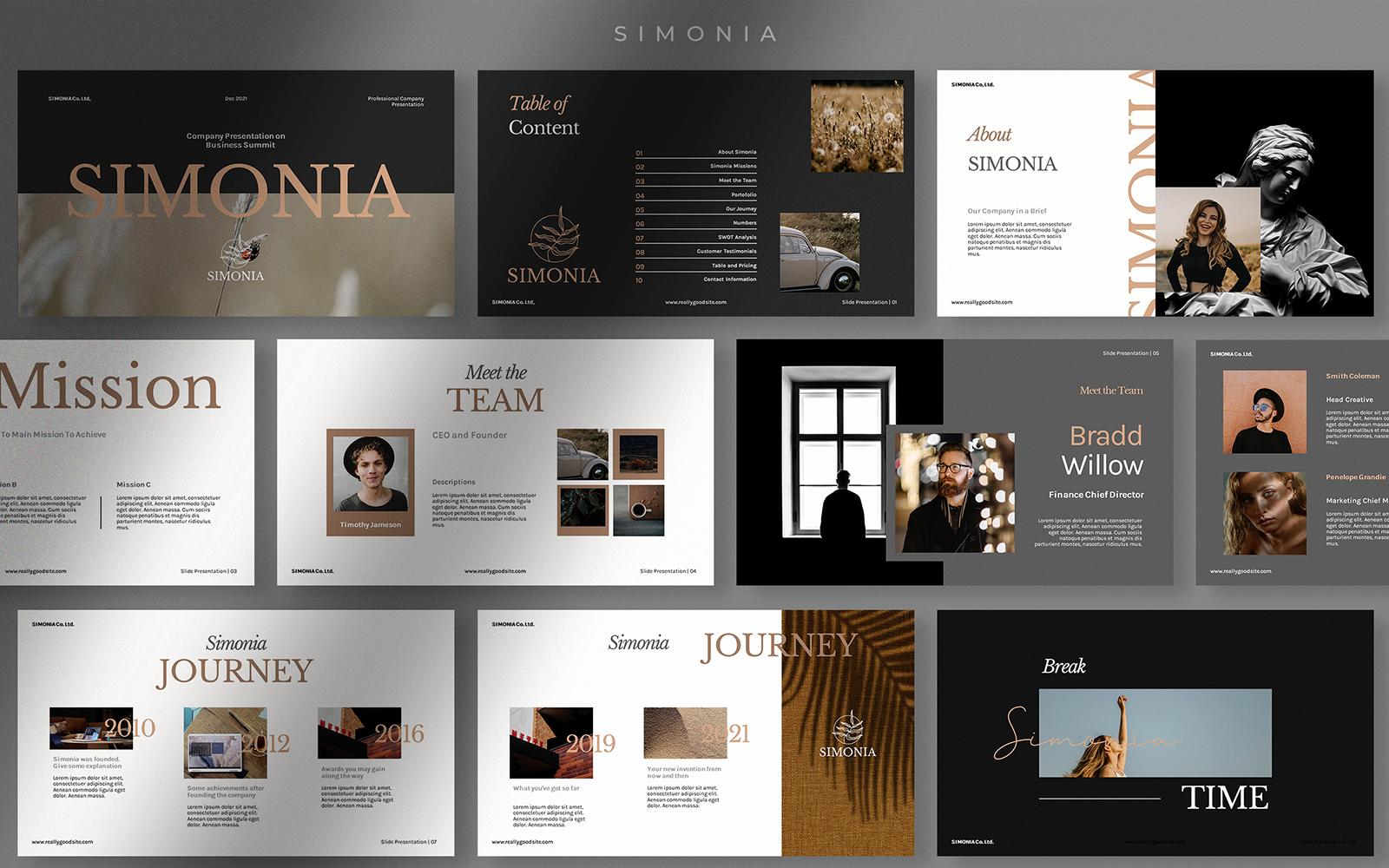 Simonia - Professional Company PowerPoint Template