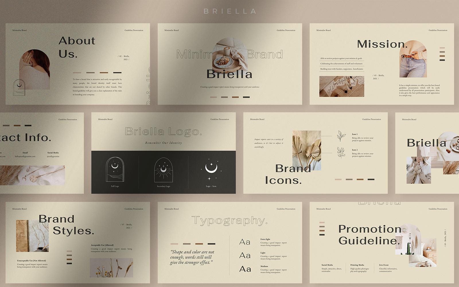 Briella - Minimalist Brand Guideline PowerPoint Template