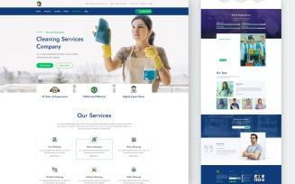 Cleall – Cleaning Services One Page UI Elements