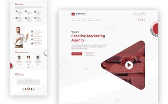 Marko Marketing Agency One Page UI Elements