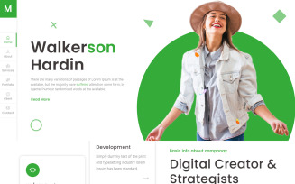 Masum   Personal Portfolio HTML5 Landing Page Template