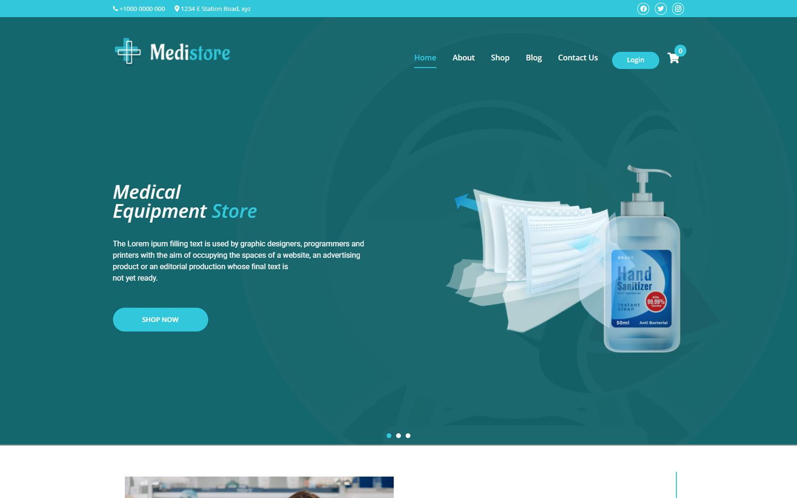 Medistore - Medical WordPress Theme
