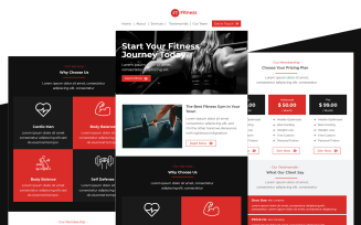 Fitness – Multipurpose Fitness and Gym Email Template Responsive