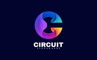 Letter C Gradient Colorful Logo