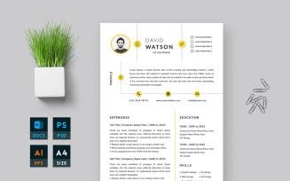 RESUMIJ Free Resume Design Word Template