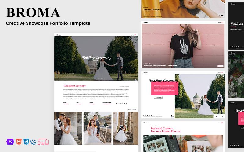 Broma - Creative Showcase Portfolio HTML Template