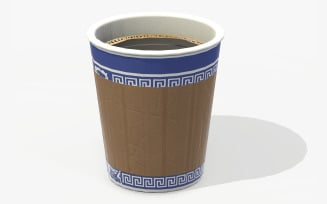 Paper Coffe Cup Low Poly PBR 3d Model