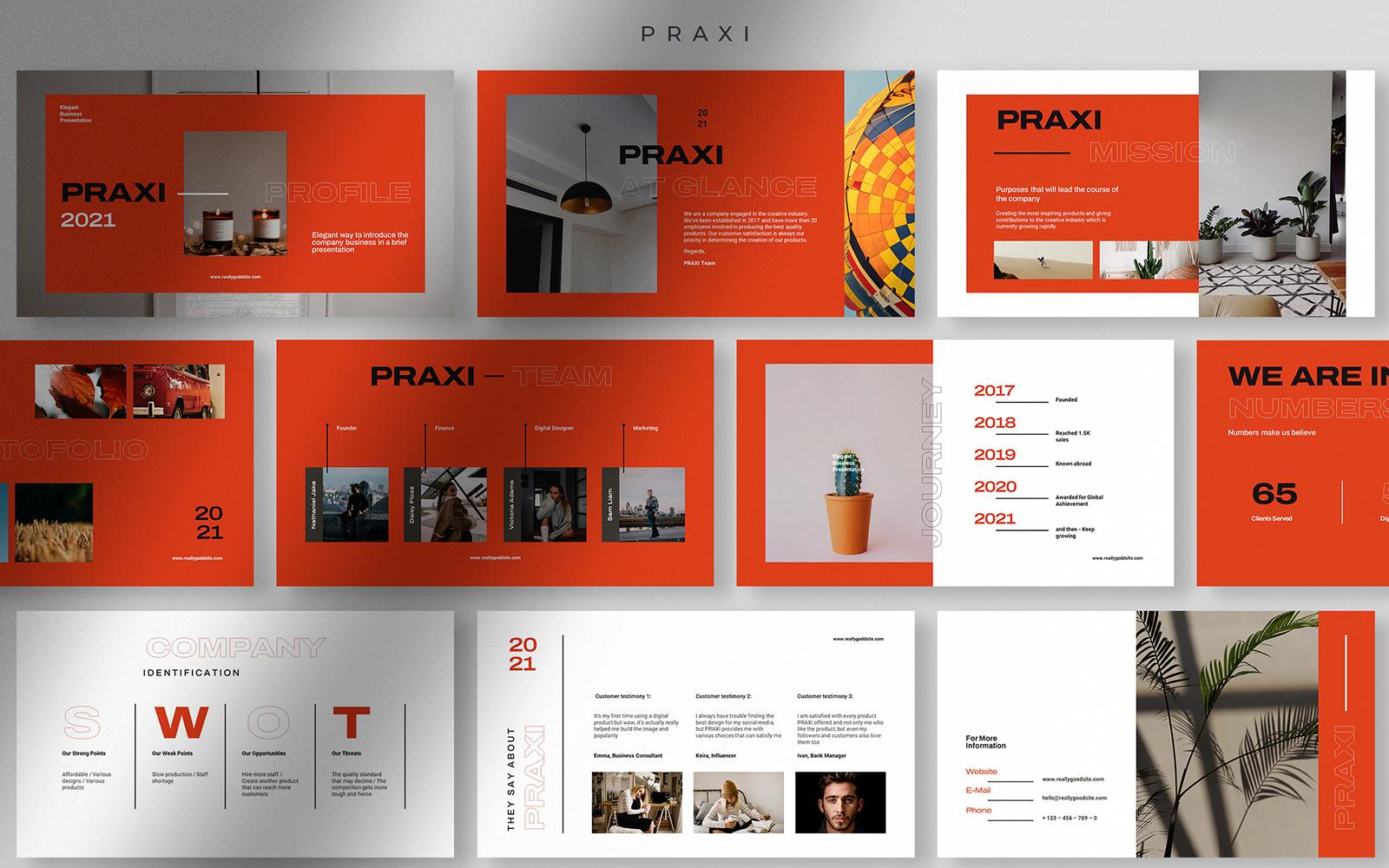 Praxi - Elegant Company Business PPT