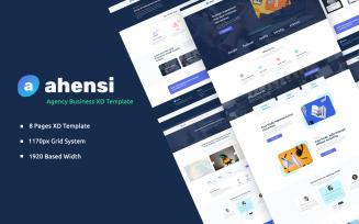 Ahensi - Adobe XD Web Template UI Elements
