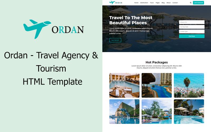 Ordan – Travel Agency & Tourism HTML Template
