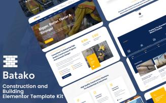 Batako - Construction and Building Elementor Template Kit